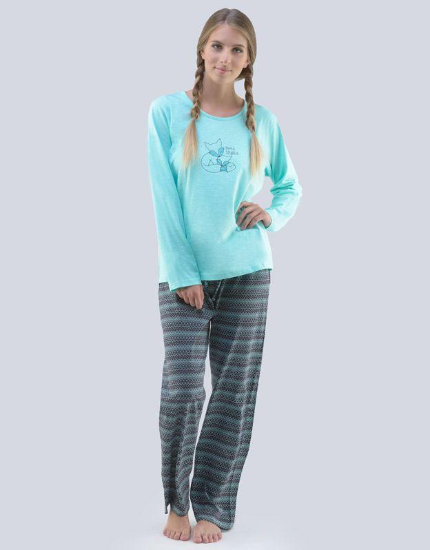 dámské pyžamo dlouhé dámské 19063P GINA