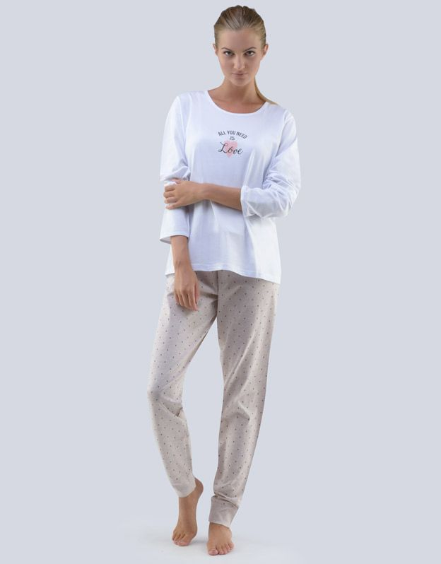 dámské pyžamo dlouhé dámské 19073P GINA