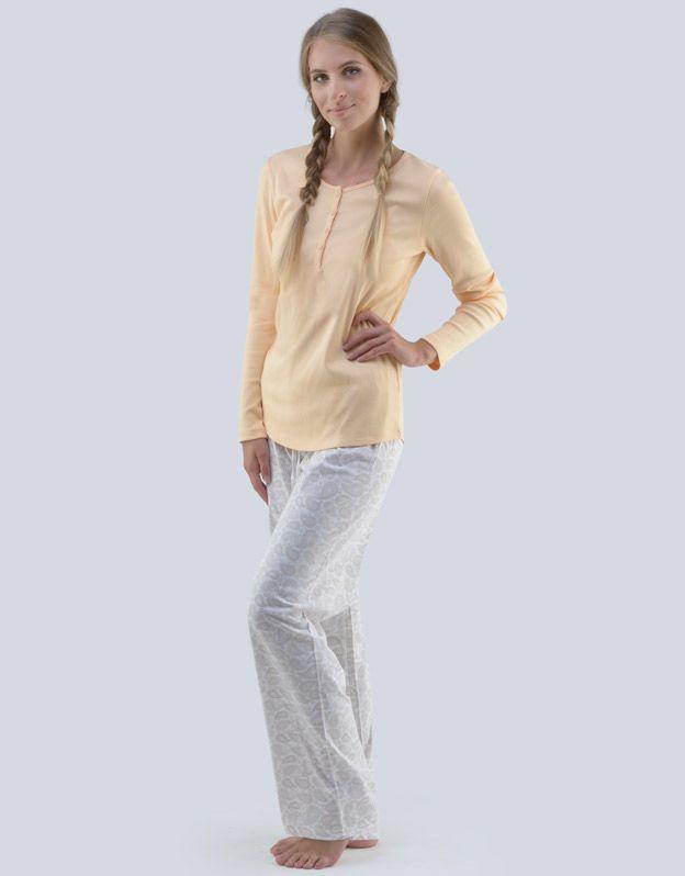 dámské pyžamo dlouhé dámské 19065P GINA