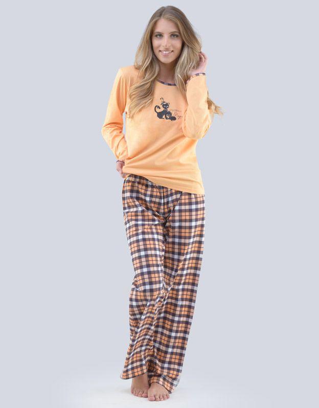 dámské pyžamo dlouhé dámské 19079P GINA