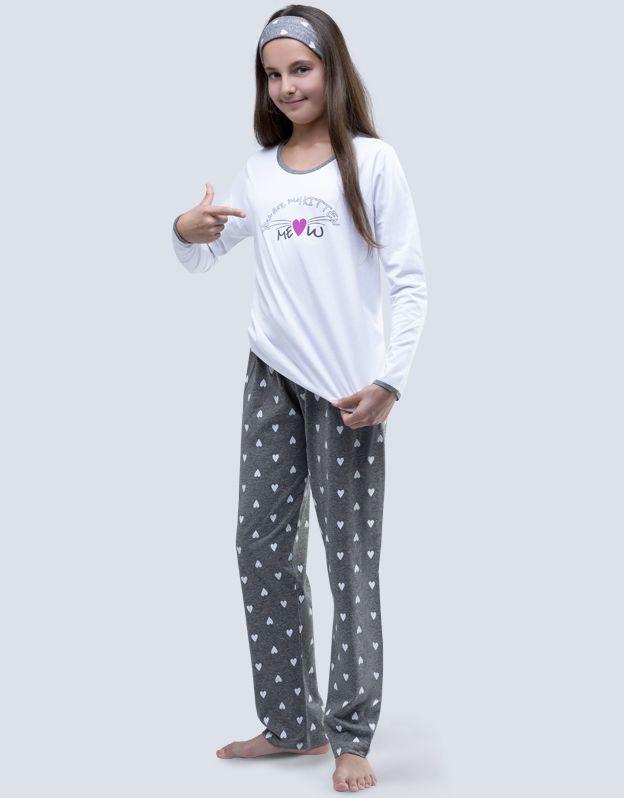 dětské pyžamo dlouhé dívčí 19059P GINA