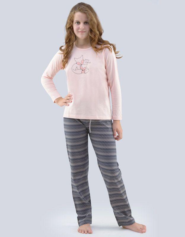 dětské pyžamo dlouhé dívčí 19069P GINA