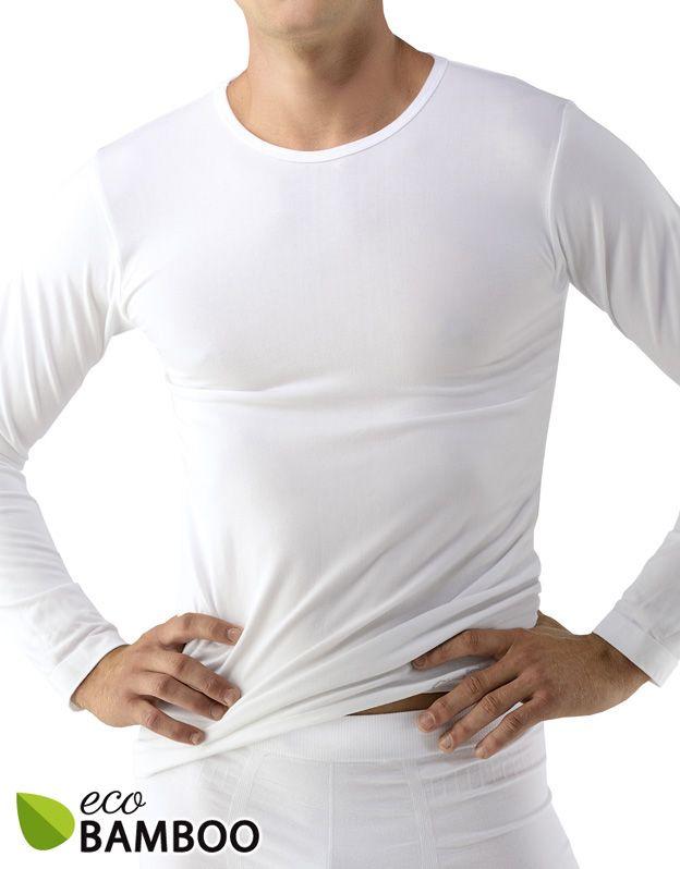 pánské tričko s dlouhým rukávem bamboo 58007P GINA