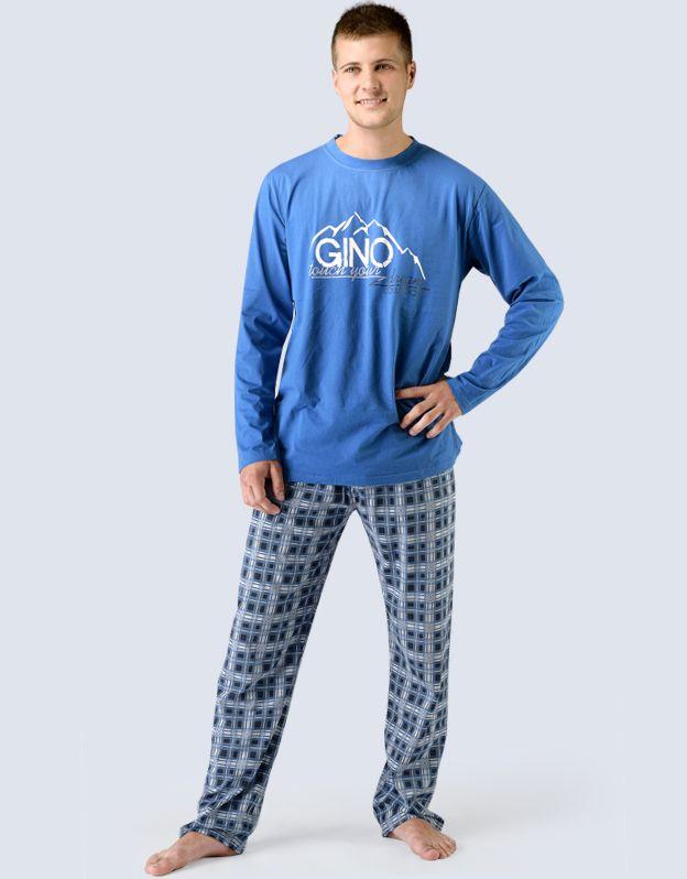 pánské pyžamo dlouhé pánské 79025P GINA