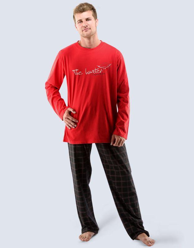 pánské pyžamo dlouhé pánské 79027P GINA