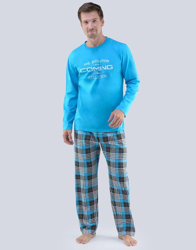 pánské pyžamo dlouhé pánské 79067P GINA