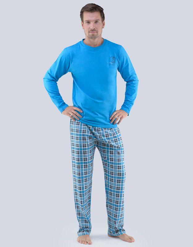pánské pyžamo dlouhé pánské 79065P GINA