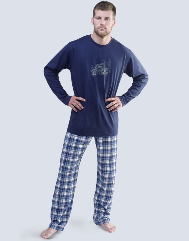pánské pyžamo dlouhé pánské 79049P GINA