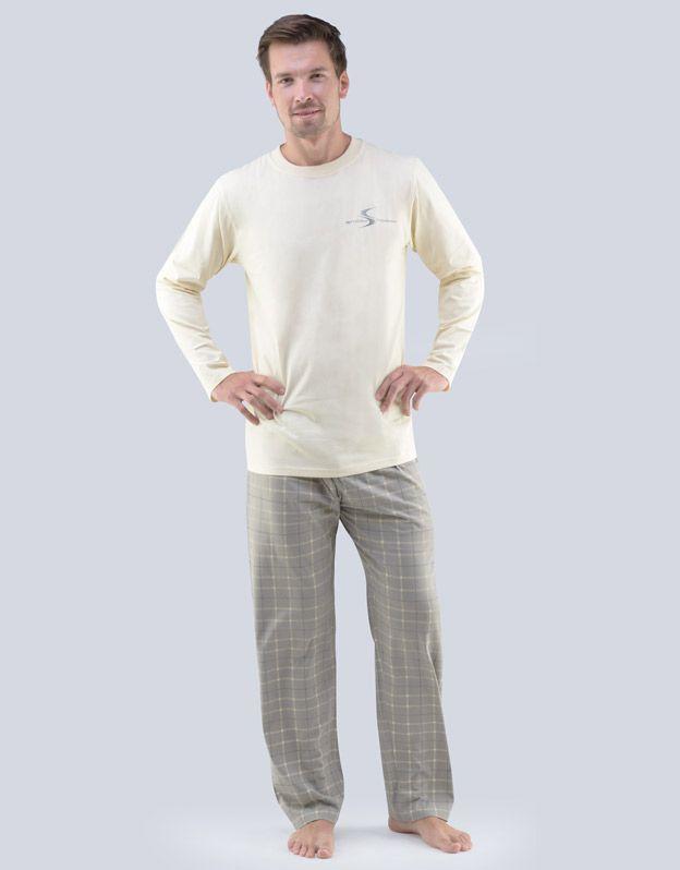 pánské pyžamo dlouhé pánské 79053P GINA