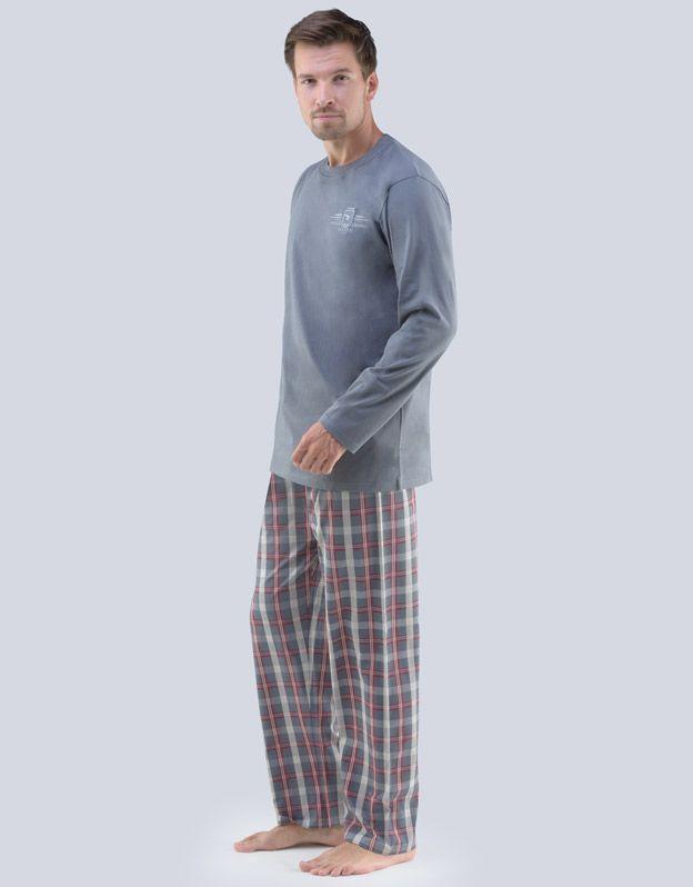 pánské pyžamo dlouhé pánské 79061P GINA