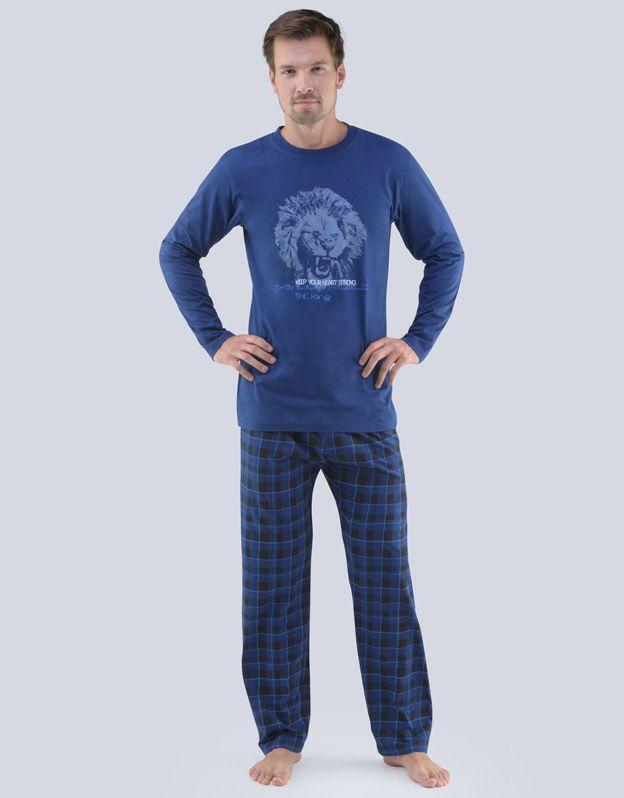 pánské pyžamo dlouhé pánské 79063P GINA