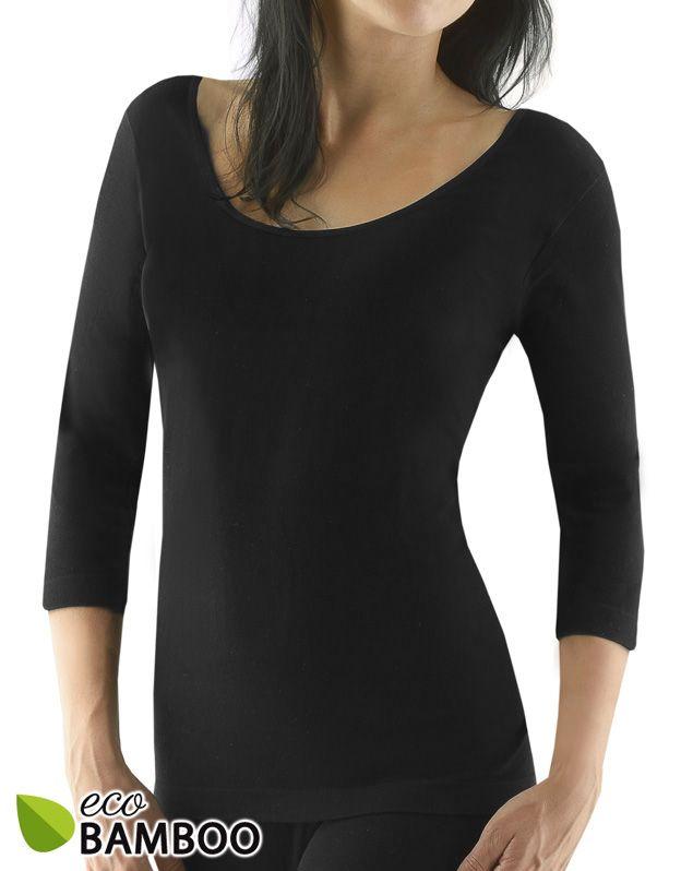 dámské tričko s 3/4 rukávem eco bamboo 08023P GINA