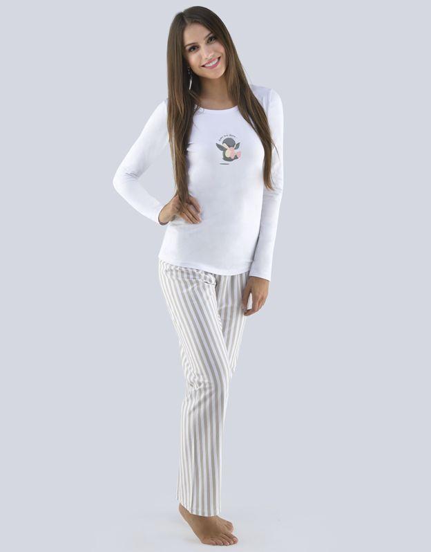 dámské pyžamo dlouhé dámské 19085P GINA
