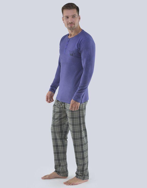 pánské pyžamo dlouhé pánské 79071P GINA