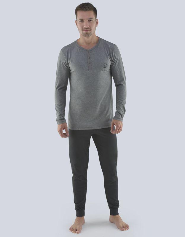 pánské pyžamo dlouhé pánské 79073P GINA
