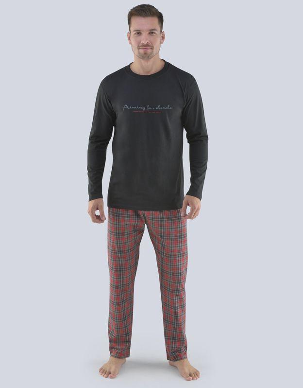 pánské pyžamo dlouhé pánské 79075P GINA