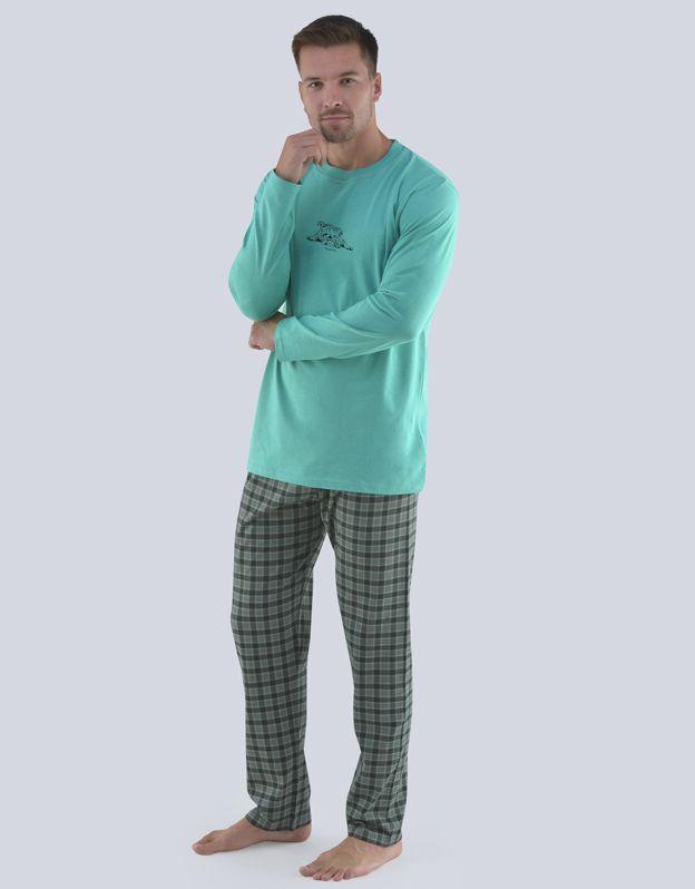 pánské pyžamo dlouhé pánské 79077P GINA