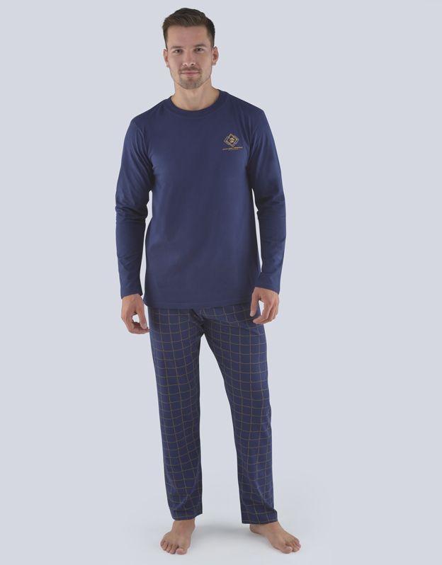 pánské pyžamo dlouhé pánské 79079P GINA