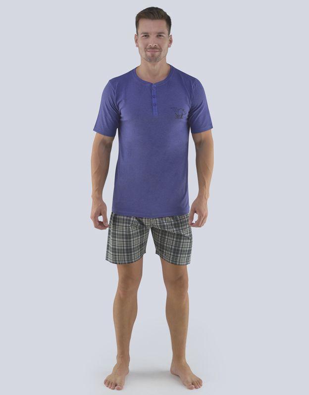pánské pyžamo krátké pánské 79074P GINA