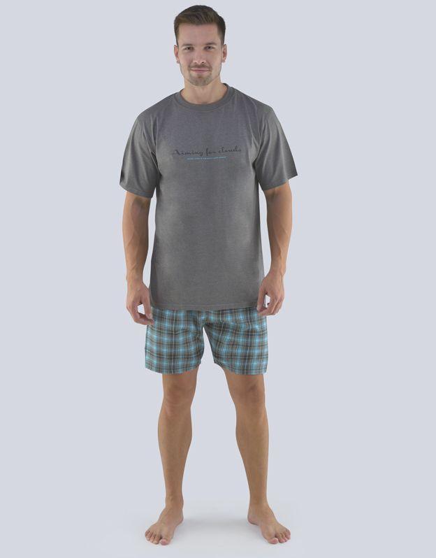 pánské pyžamo krátké pánské 79076P GINA