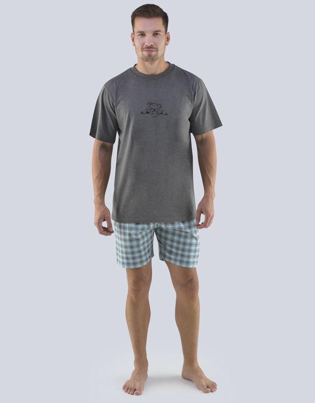 pánské pyžamo krátké pánské 79078P GINA