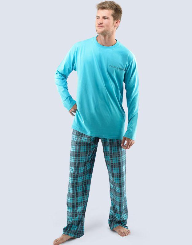 pánské pyžamo dlouhé pánské 79035P GINA
