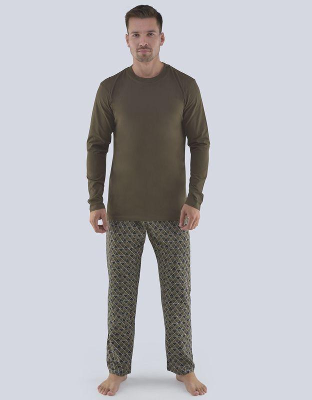 pánské pyžamo dlouhé pánské 79081P GINA