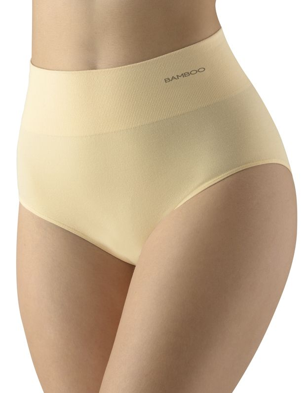 dámské kalhotky klasické s vysokým pasem eco bamboo 00040P GINA