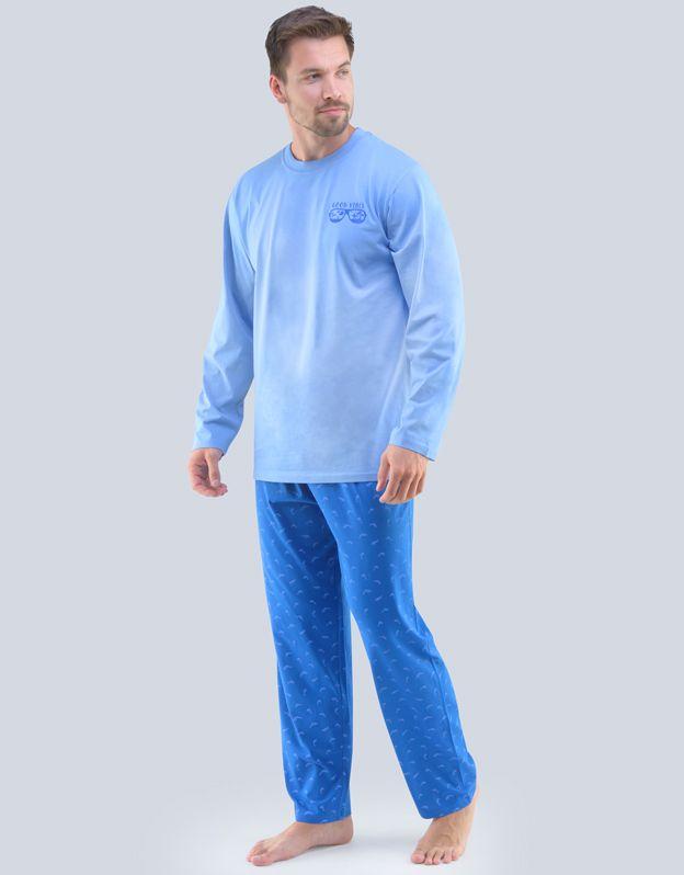 pánské pyžamo dlouhé pánské 79089P GINA
