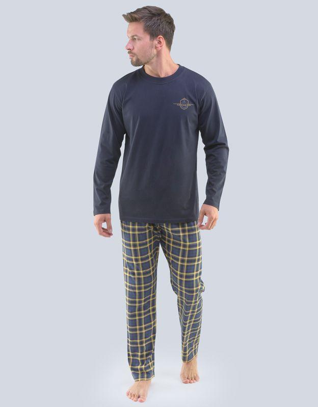 pánské pyžamo dlouhé pánské 79091P GINA