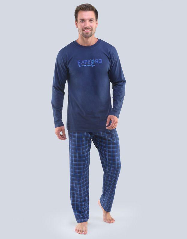 pánské pyžamo dlouhé pánské 79095P GINA