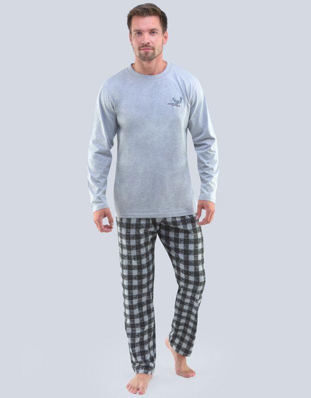 pánské pyžamo dlouhé pánské 79103P GINA
