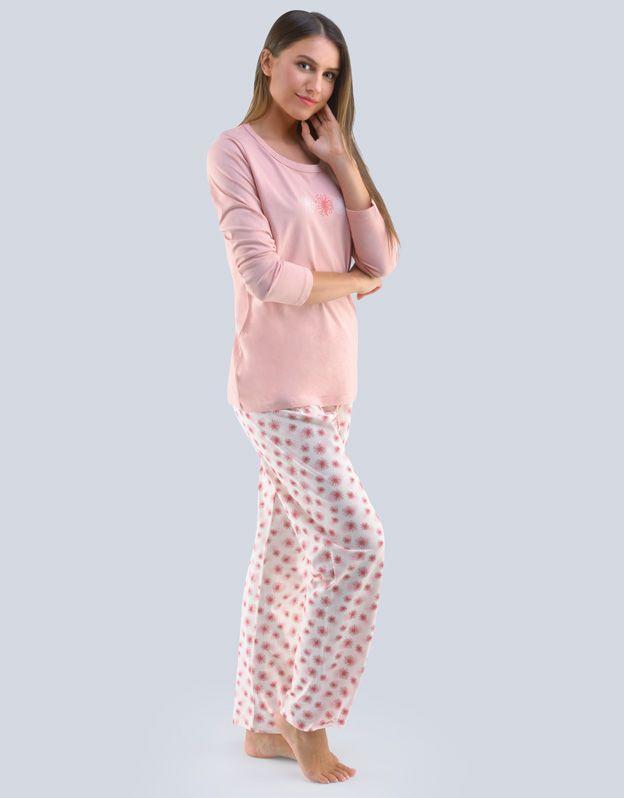 dámské pyžamo dlouhé dámské 19111P GINA