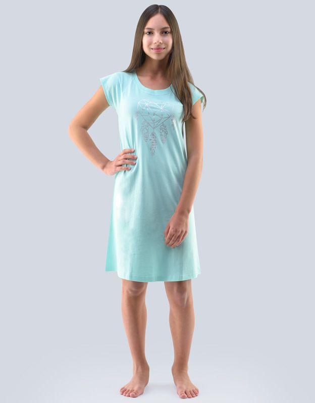 dětské Košilka noční dívčí krátký rukáv 29000P GINA