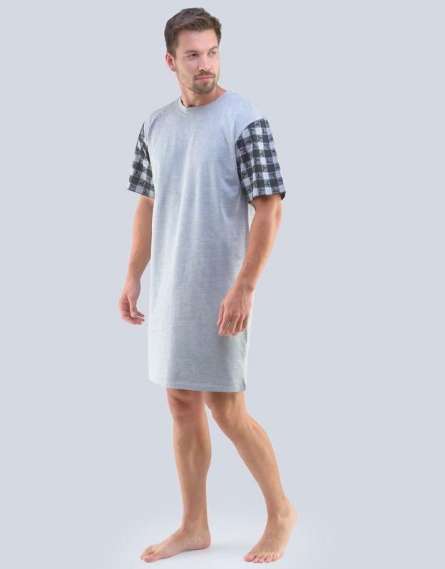 pánské košile noční pánská krátký rukáv 79090P GINA