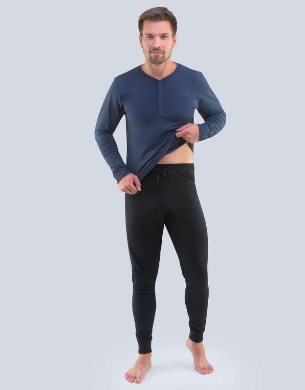 pánské pyžamo dlouhé pánské 79087P GINA