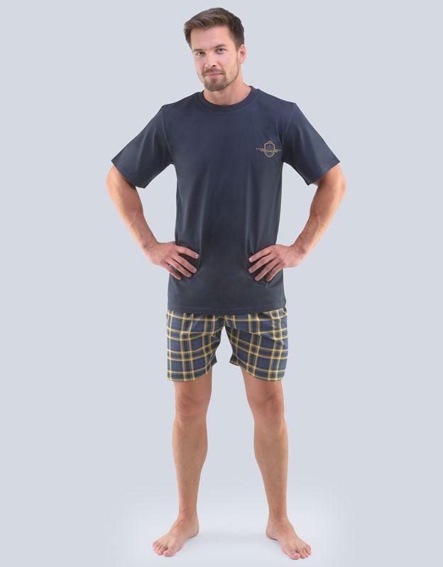 pánské pyžamo krátké pánské 79096P GINA