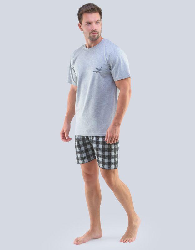 pánské pyžamo krátké pánské 79098P GINA