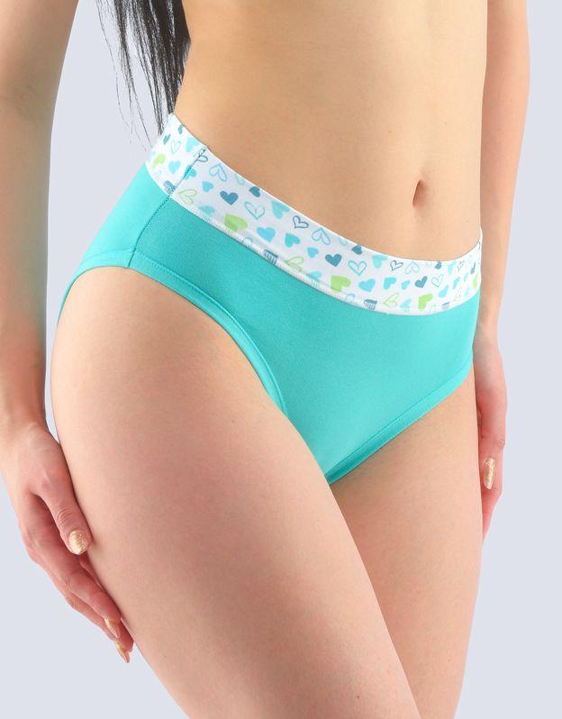 GINA dámské kalhotky klasické, širší bok, šité, s potiskem 10241P