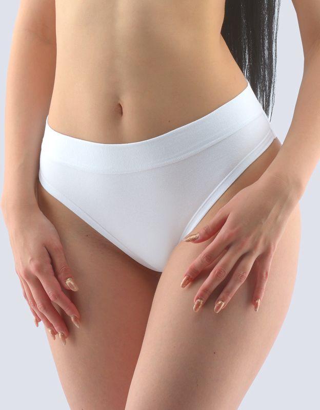 GINA dámské kalhotky klasické s úzkým bokem, úzký bok, šité, jednobarevné 10244P