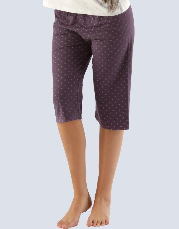 GINA dámské kalhoty 3/4 pyžamové dámské, bokové, 3/4 kalhoty, šité, s potiskem Pyžama 2014 19703P