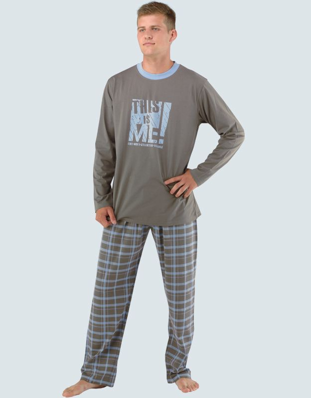 pánské pyžamo dlouhé pánské 79017P GINA