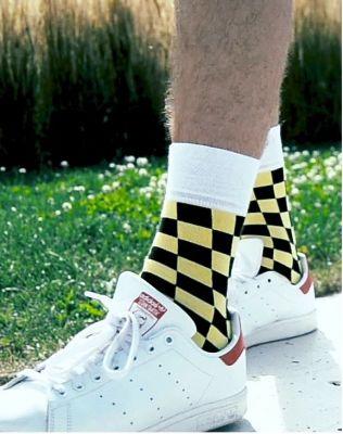 0085 CRAZY socks - šachovnice