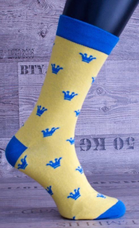 0241 CRAZY socks - koruna, nejsou skladem,na objednání TAPO-MAX s.r.o.