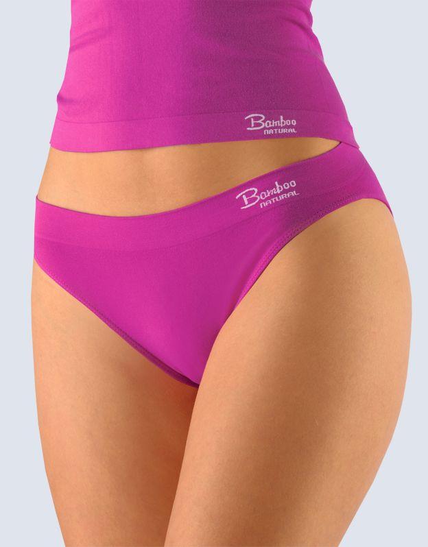 GINA dámské kalhotky klasické s úzkým bokem, úzký bok, bezešvé Bamboo Natural 00029P -