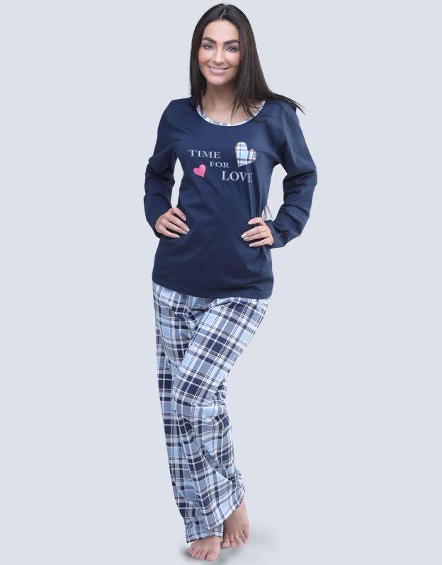 dámské pyžamo dlouhé dámské 19053P GINA